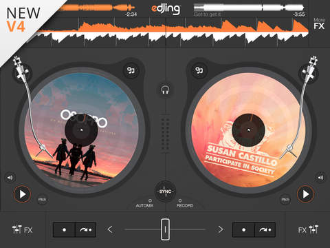 edjing – DJ Music Mixer console – Play, Mix, Record and Share