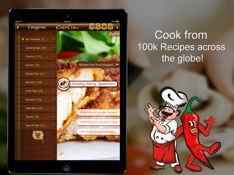 ChefChili - 100k Healthy Simple recipes by ingredients cookery book for foodies