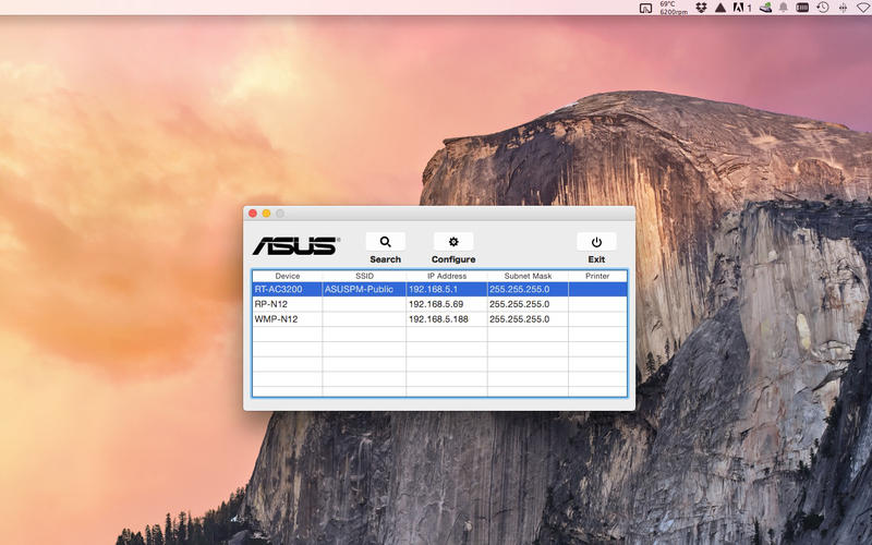ASUS Device Discovery Screenshot - 2