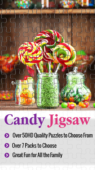 Candy Jigsaw Rush - Puzzle Collection 4 Kids Box