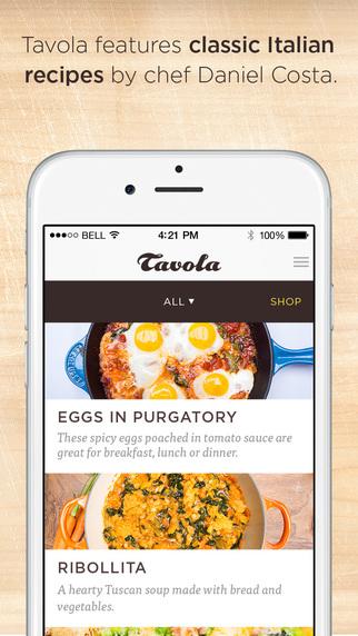 Tavola - Italian recipes wine pairings and music