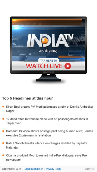 IndiaTV News Live TV