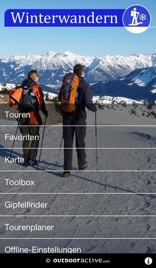 Winterwandern - outdooractive.com Themenapp