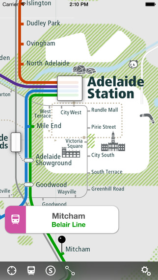 Adelaide Rail Map