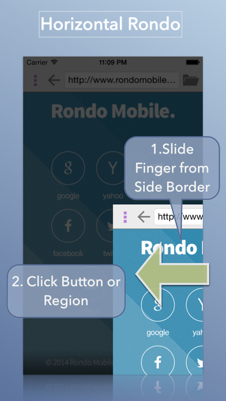 Rondo Browser : Easy one-hand WebBrowser