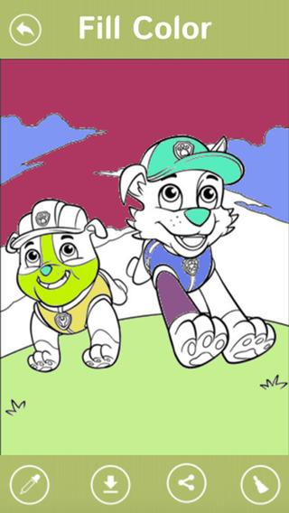 Kids Pro Coloring Game Paw Patrol Edition
