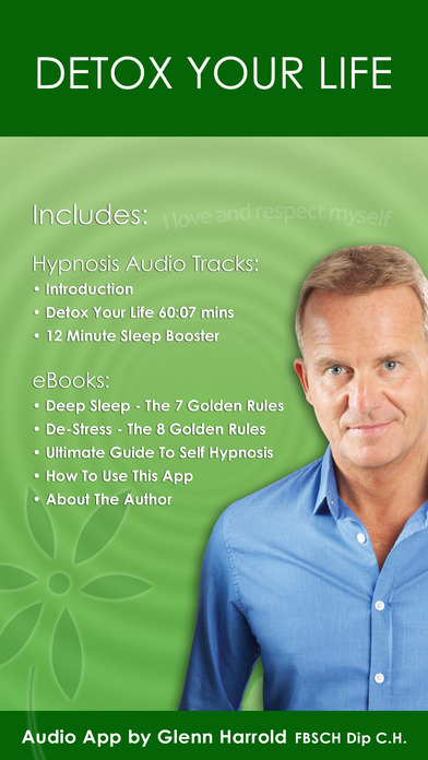 Detox Your Life by Glenn Harrold: A Self-Hypnosis Affirmation Meditation iPhone Screenshot 1