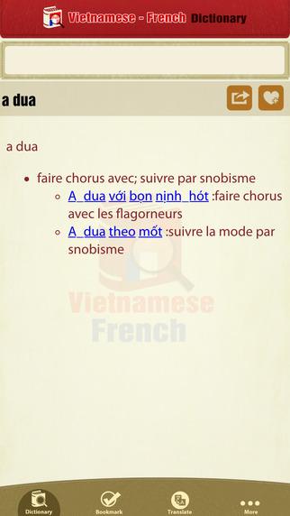 Từ Điển Việt Pháp - Vietnamese French Dictionary Pro