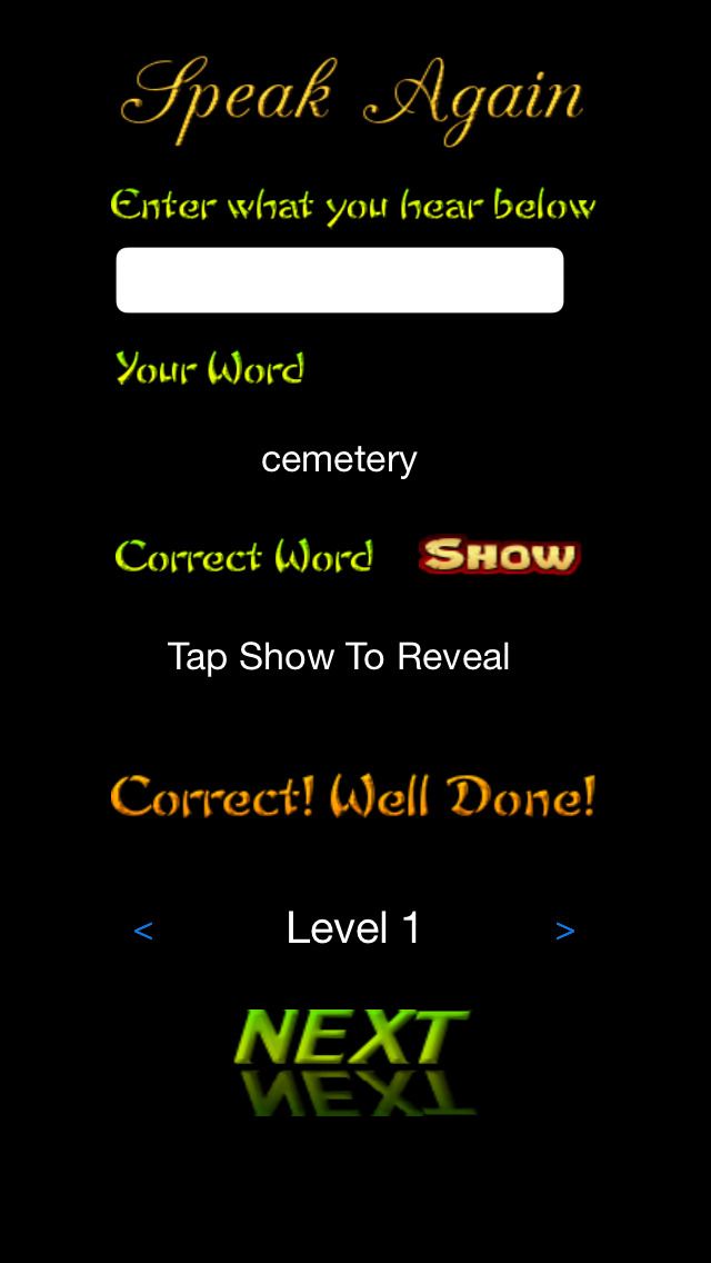 Spellit! Audio Word Game screenshot 3