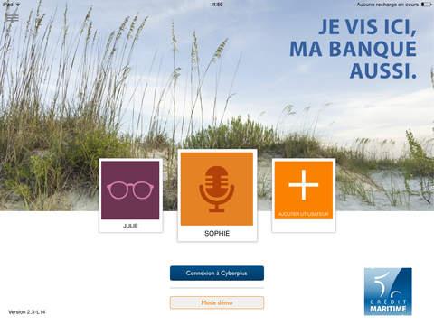 Cyberplus Crédit Maritime version iPad