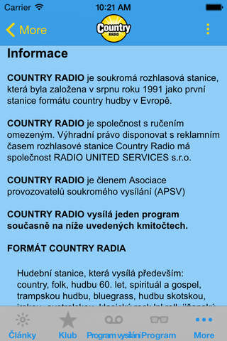 Country Rádio screenshot 1