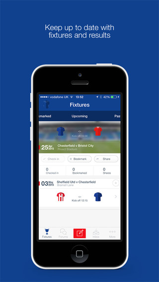 Chesterfield FC Fan App