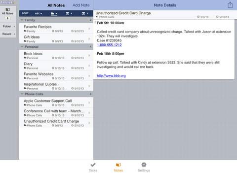 دانلود نرم افزار Toodledo برای آیفون ، آیپاد تاچ و آیپد - تصویر 2