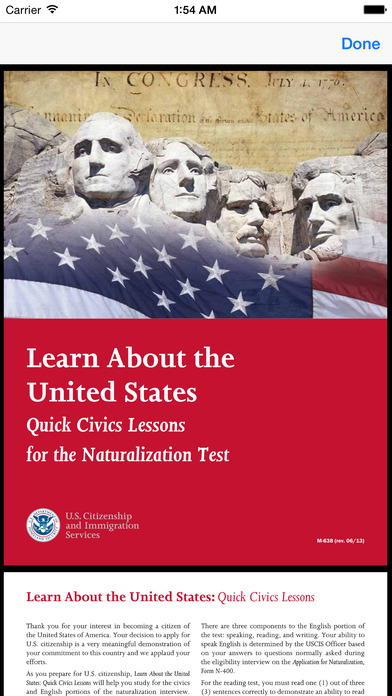 U.S. Citizenship Test iPhone Screenshot 4