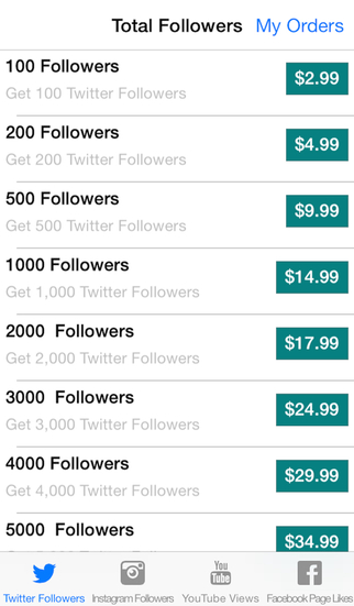 Total Followers: Get Followers Likes and Tweets