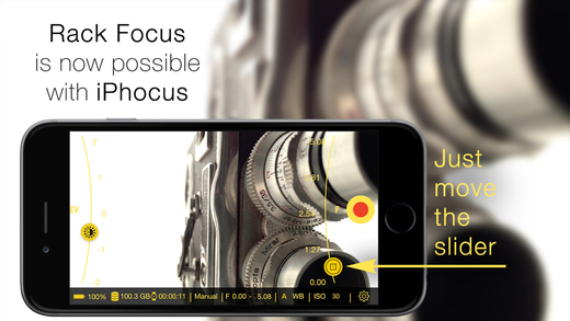 iPhocus - Manual camcorder - Focus, Exposure, ISO and White Balance controls for your videos like in a DSLR Screenshots