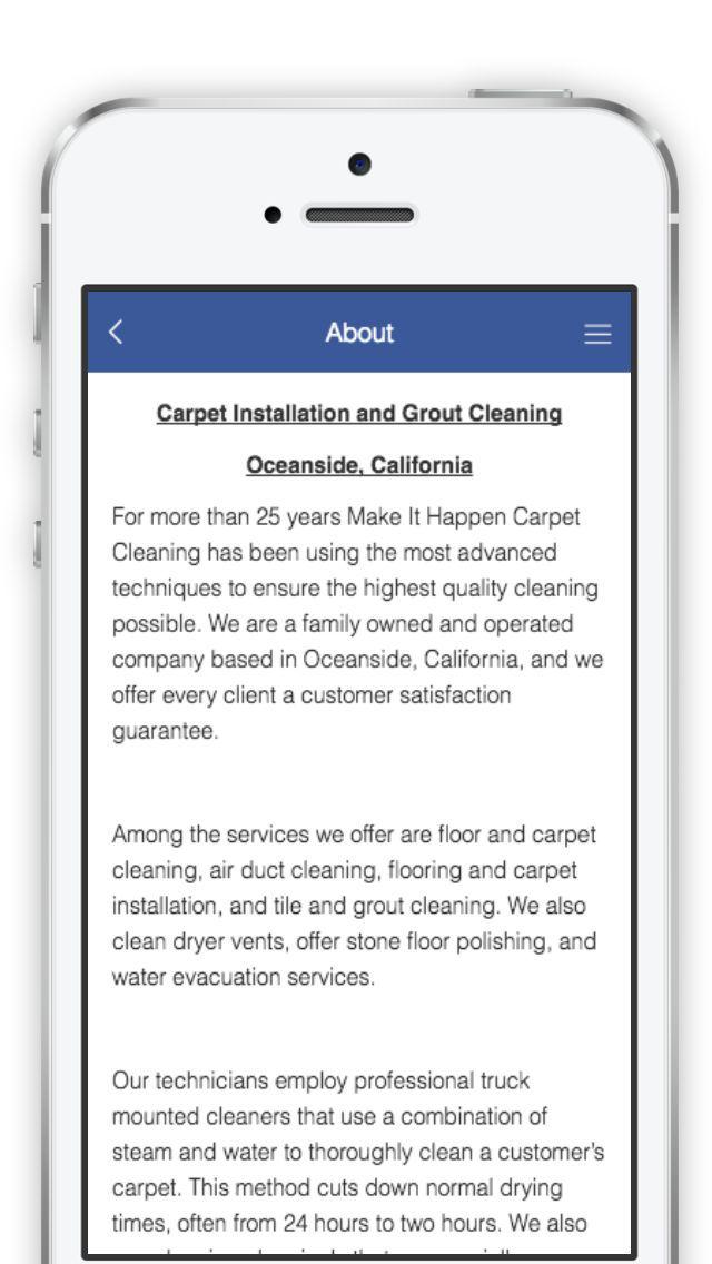 App Shopper: Make it Happen Carpet Cleaning (Business)