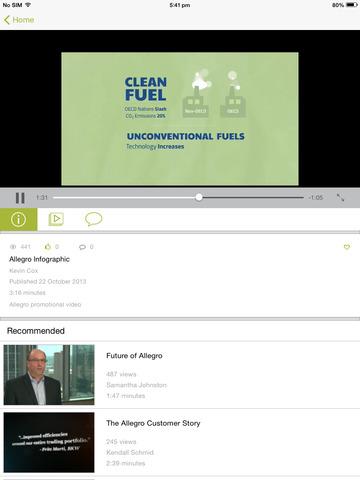 Screenshot of AllegroU HD