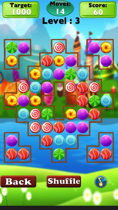 Candies Match Mania Legend-Top Match 3 Puzzle Candy Matching Game. iPhone Screenshot 3