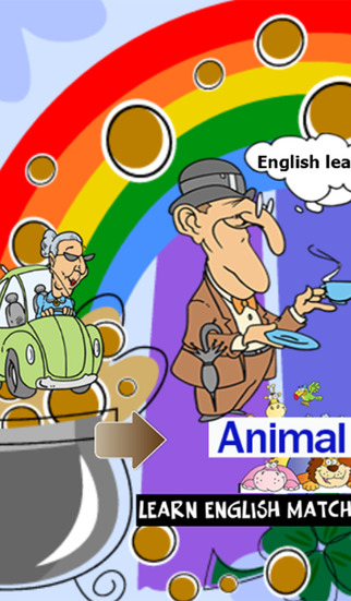 Learn english match vocabulary : word search animal match game