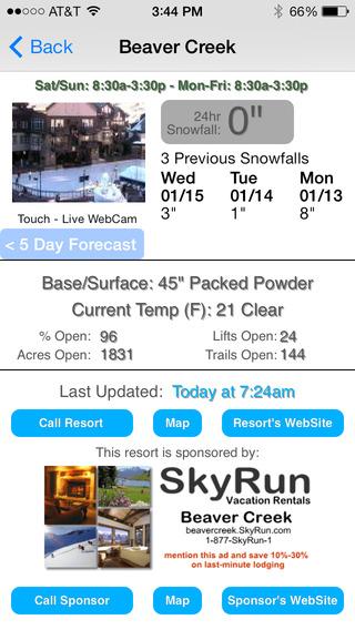 Colorado Snow Report iPhone Screenshot 3
