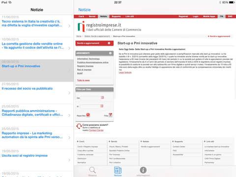 registroimprese.it iPad Screenshot 2