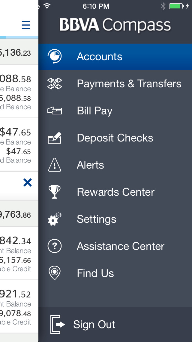 BBVA Compass Mobile Banking screenshot 2