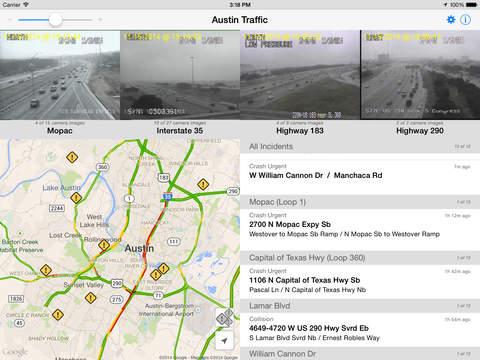 Austin Traffic - Cameras, Maps, and Incidents iPad Screenshot 1