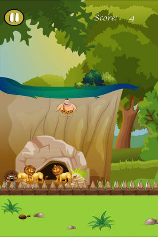 Crazy Caveman Jumping Rush Pro - Addictive Jungle Rescue screenshot 1