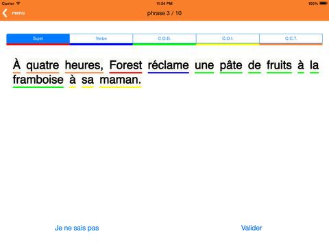 Grammaire CE2 iPad Screenshot 1
