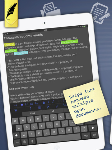 Textkraft English - Write, Research, Correct & Share Screenshots