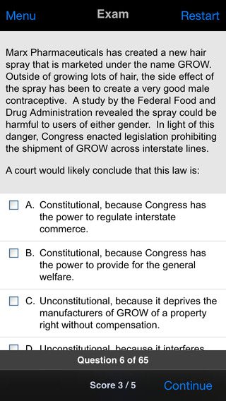 Constitutional Law: Supreme Bar Review iPhone Screenshot 3