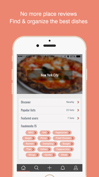 Foodmento - Find and Organize Good Food