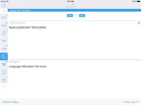 Hungarian English Dictionary & Translator iPad Screenshot 3