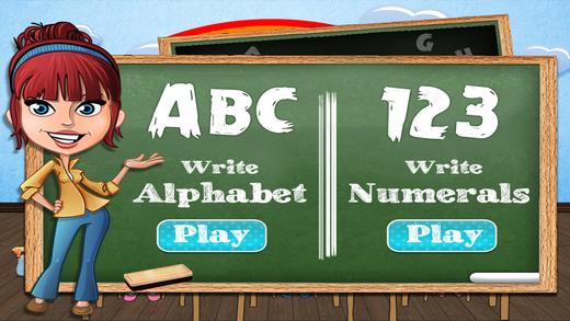 Alphabet Number Tracing