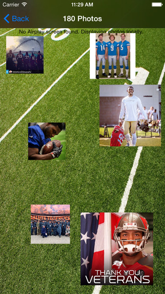 Air Collage Football - using Instagram photos