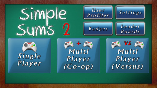 Simple Sums 2 - Multiplayer Maths Game