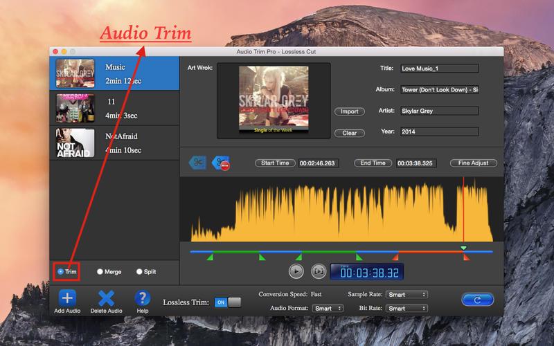 Audio Edit  Trim  Merge  Split  Lossless Lite Screenshot - 1
