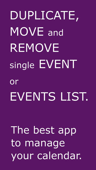 Events List Duplicator Mover Remover