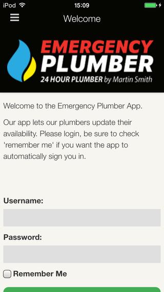 Emergency Plumber App