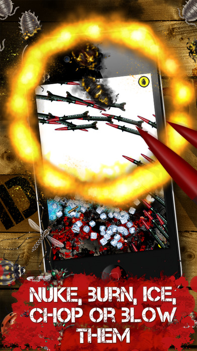 iDestroy Reloaded Free - torture bugs and insects with many weapons and look at the explosions and loads of blood in your pocket iPhone Screenshot 5