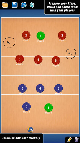 Coach Tactical Board for Volleyball FREE