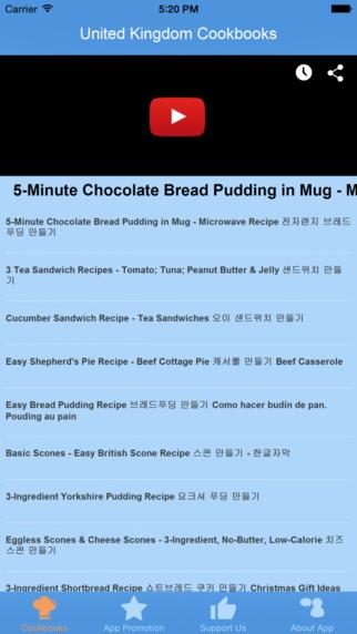 United Kingdom Cookbooks - Video Recipes