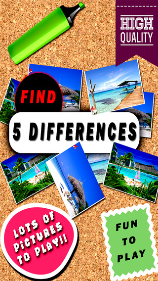 Spot it - Find the differences of five secret object between this two hd pictures hunter quiz free