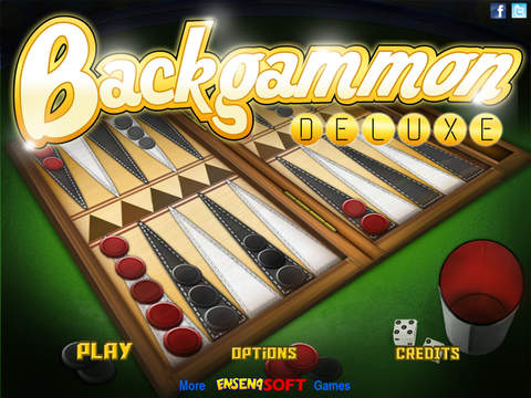 Backgammon Deluxe iPad Screenshot 1