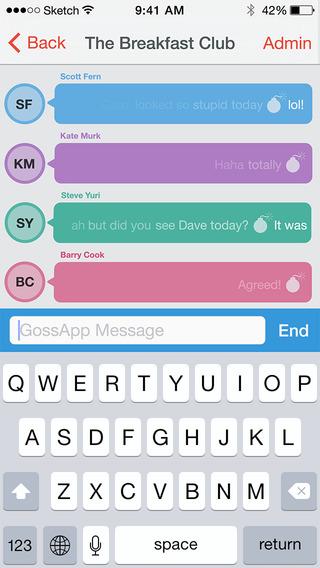 GossApp Private Messaging