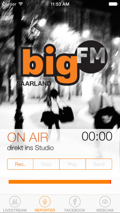 bigFM Saarland iPhone Screenshot 2