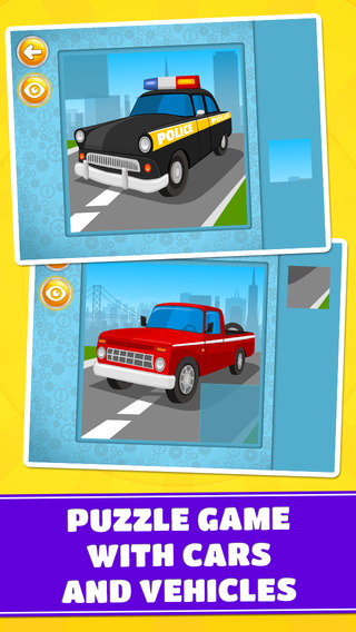 Emergency Transport Vehicles Cars Trucks Puzzle Game