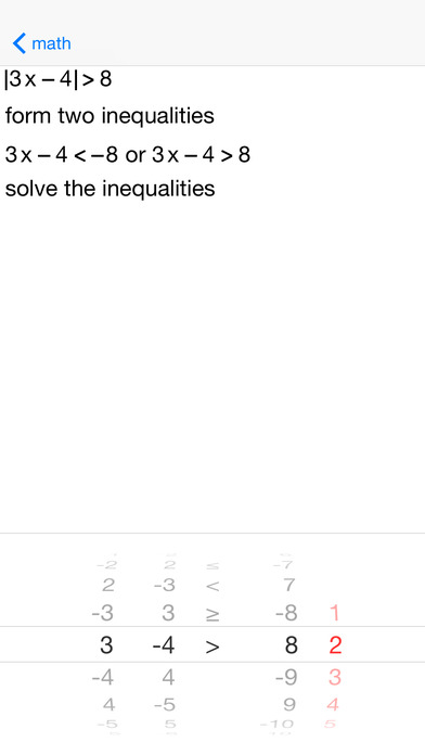 AbsoluteVal Absolute Value Equations and Inequalities iPhone Screenshot 2
