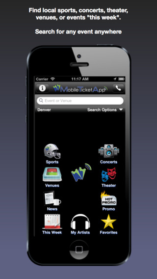 Mobile Ticket App - Sports Concerts Theater Tickets